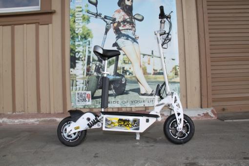 GEBRAUCHT - SXT1600XL Elektro Scooter 48V 12Ah Bleigel Akku - weiss