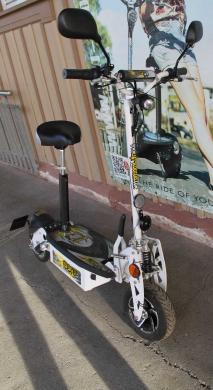 GEBRAUCHT - SXT1000XL EEC Elektro Scooter 48V 12Ah Bleigel Akku - weiss