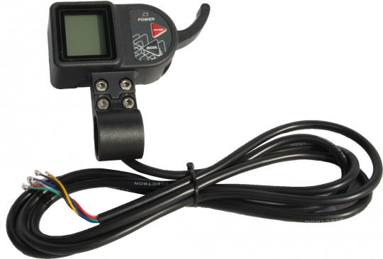 LCD control panel with throttle 36V
