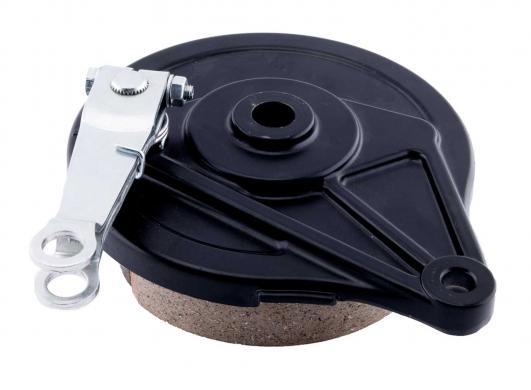 Drum brake for rear wheel