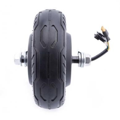 Front tire with hub motor