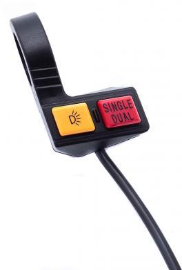 Schalter Licht und Single / Dual Betrieb