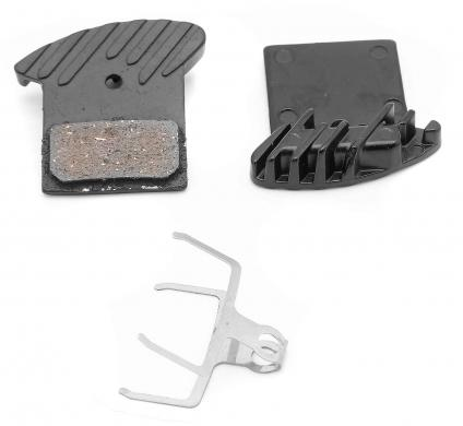 Brake pads set with cooling fins