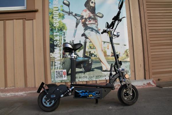 GEBRAUCHT - SXT1000XL EEC Elektro Scooter 48V 12Ah Bleigel Akku - schwarz