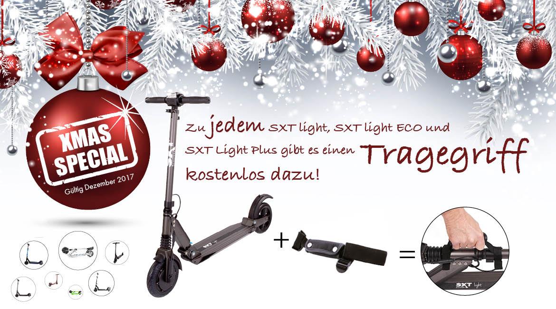 Banner Weihnachten 2017 SXT Light und SXT ECO plus Tragegriff